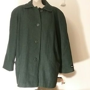 NWT OutBrook Wool Winter Coat Plus Size 22W Hunter
